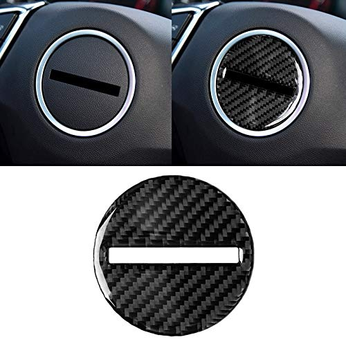 WOHAO Auto-Innenausstattung Auto-Carbon-Faser-Lenkrad-Logo dekorativen Aufkleber for Chevrolet Camaro 2017-2019.
