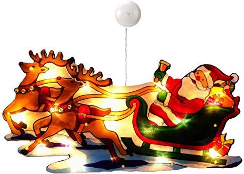 Luces navideñas, colgantes navideños, candelabros navideños LED con ventosas, adornos navideños...