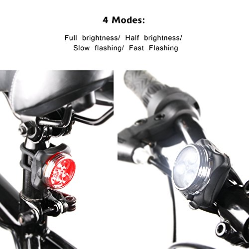 Ascher USB Rechargeable Bike Light