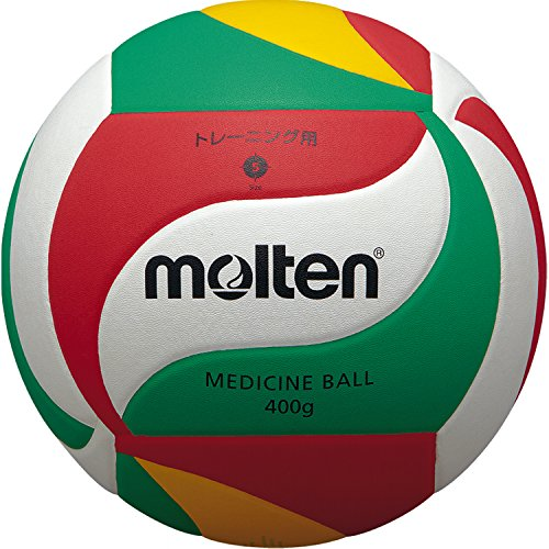 VM9000 - Balón de Voleibol medicinal. Blanco, verde y rojo, Talla 5