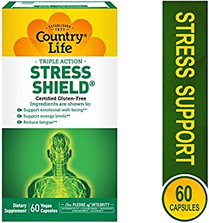 Country Life - Triple-Action Stress Shield with Sensoril - 60 Vegetarian Capsules