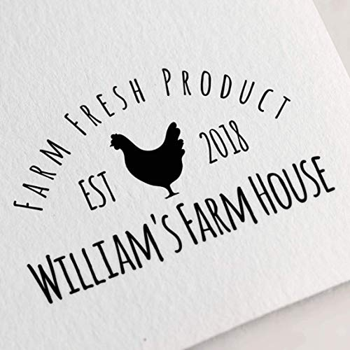 Egg Carton Stamp, Chicken Stamp, Custom Egg Stamp, Farm Stamp, Chicken Lover Gift, Egg Label, Farm Fresh Eggs Stamp. Chicken Coop Stamp Z59