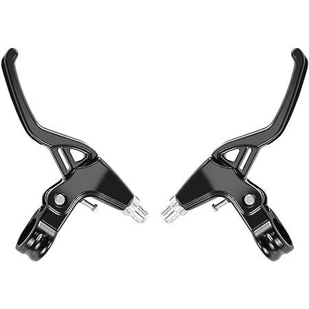 Hrroes Mountain Bike Brake Lever Hand Brakes for Bike Bicycles Aluminium Alloy Brake Handle - One Pair (Black)