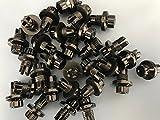 Woowin 50 Pcs Wheel Rim Bolt Spike LIP Rivets T01 T03 T04 for Wheel Rim (Glossy Black)