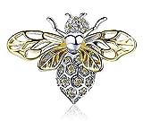 Maria Fonte - Colgante Bead Charm con Forma de Abeja Reina en Plata de Ley 925 Adecuada para Pulseras y Collares.
