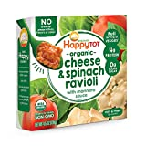 Happy Tot Love My Veggies Cheese & Spinach Ravioli Bowl with Marinara Sauce, 4.5 Ounce, 8 Count (Packaging May Vary)