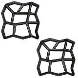 MCTECH® D.I.Y., forma per calcestruzzo, cemento, pavimentazione, superfici, rettangoli casuali, per modellare pietre, marciapiedi, scale, giardini