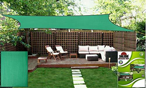 Shalimar Multipurpose Shade Net Agro Net Green Net - 75% (Green Colour) (10 ft x 20 ft)