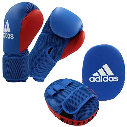 adidas Unisex Jugend Kids Boxing Kit 2 Pratzen-Set Kinder, Blue-red, 8