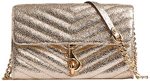 Rebecca Minkoff womens Edie on Chain Wallet, Champagne, One Size US