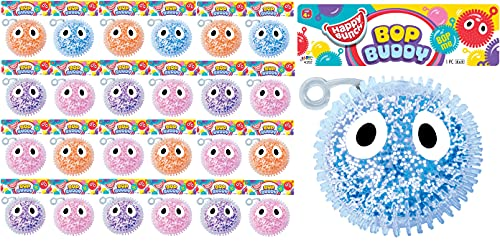 """JA-RU Bop Buddy Punch & Bounce Stress Ball Stretchy Balls Squishy Toy (24 Packs) 5"""" Stress Relief Fidget Toy for Kids and Adults. Anxiety, Autism & Therapy. Party Favor in Bulk 4352-24s"""