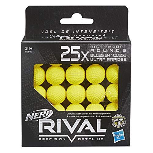 Nerf – Pack de 25 Bolas de Espuma Rival Oficiales