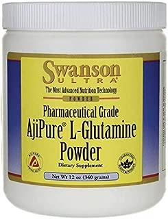 Swanson Amino Acid Ajipure L-Glutamine Powder 12 Ounce (340 g) Pwdr