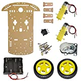 Primerobotics 2Wd Smart Robot Bot with Chassis, Bo Motor, Wheels, Clamps, Speed Encoder, Battery Box, Switch - Diy Robot Chassis