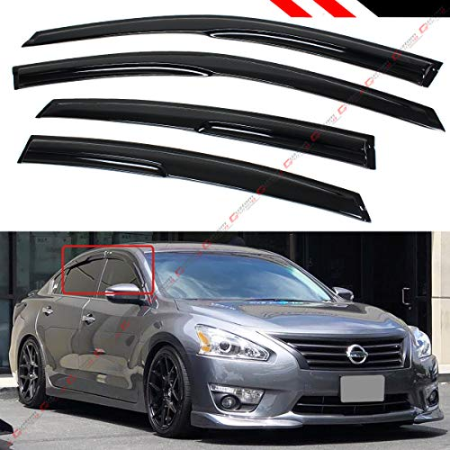 Cuztom Tuning for 2006-2011 8TH GEN 4 Door Civic Sedan Smoke Window Visor RAIN//Sun Shade W//Tape