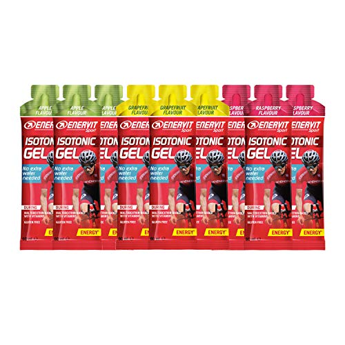 Enervit Sport Isotonic Gel, Mixed Pack, 9 x 60ml
