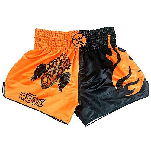 HUOLEI Muay Thai Shorts für Männer und Frauen, hochwertige MMA Gym Boxen Kickboxen Shorts - - 3XL - Taille 34/ 36