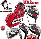 Wilson Prostaff HDX, set di mazze da golf da uomo, completo di ferri con canna in acciaio e legni con canna in grafite, per destrosi