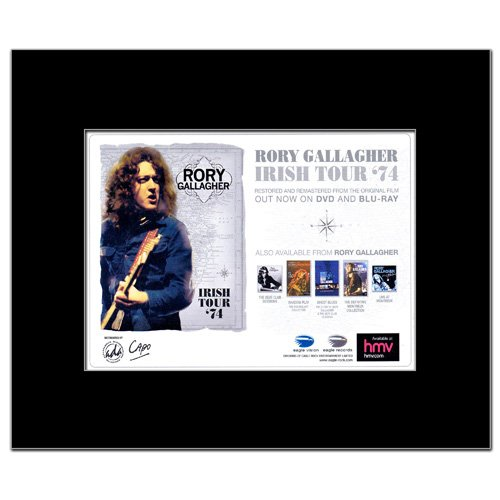 RORY GALLAGHER - Irish Tour 1974 Matted Mini Poster - 21x13.5cm