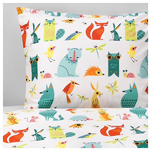 Ikea Duvet cover and pillowcase(s), animal, multicolor 228.1752.610