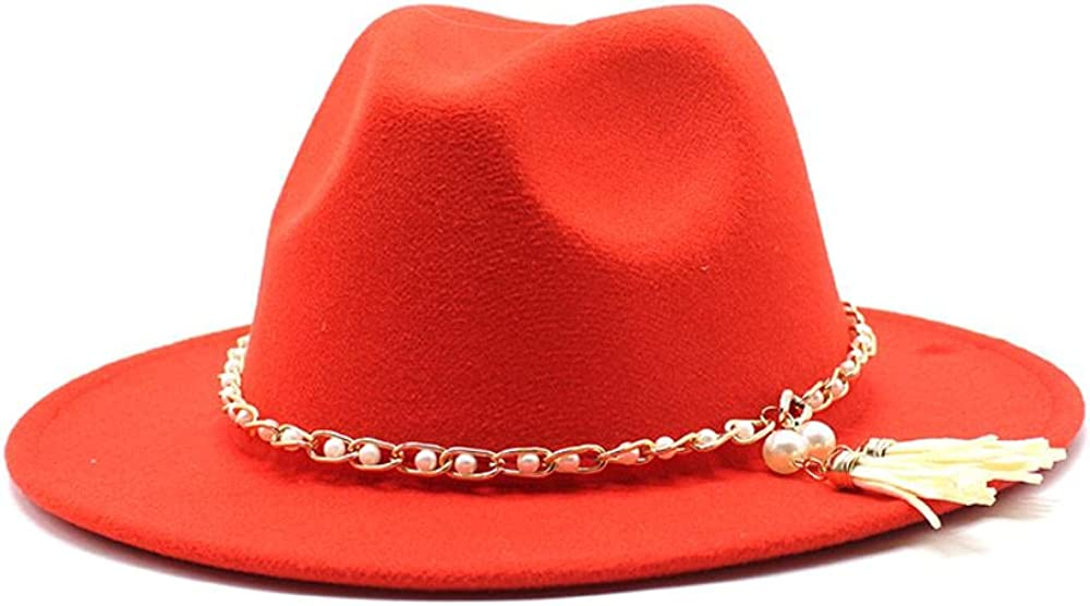 Women's and Men's Fedora Hat Classic Wide Elegant Brim Wo online shopping Panama Fixed price for sale