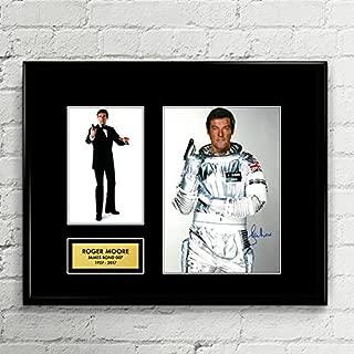Roger Moore James Bond 007 Signed Autographed Photo Mat Custom Framed 11 x 14 Replica Reprint Rp