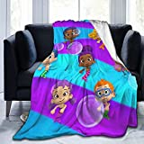 Qualet Bubble Guppy Ultra-Soft Micro Fleece Blanket Home Decor Throw Lightweight for Couch Bed Sofa 60'X50'