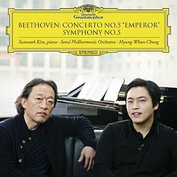 """Beethoven: Concerto No.5 """"Emperor"""", Symphony No.5"""