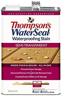 THOMPSONS WATERSEAL 042821-16 Semi Transparent Stain, Maple by Thompson's Water Seal