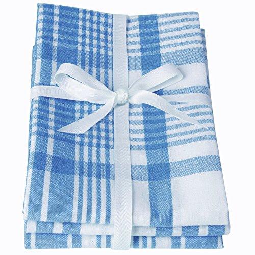 Dexam Love Colour Lot de 3 torchons Bleu marocain Taille XL 91 x 61 cm