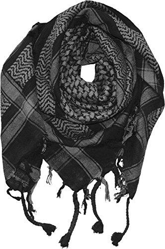 Harrys-Collection PLO Tuch in 20 Farben 100% Baumwolle dick, Farben:schwarz mit grau