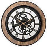 Pacific Bay Bornheim Large Decorative Light-Weight 20-inch Wall Clock Silent, Non-Ticking, 3-D Aluminum Dial, Easy-to-Read Roman Numerals, Quartz Battery Operated, Glass Face Cover