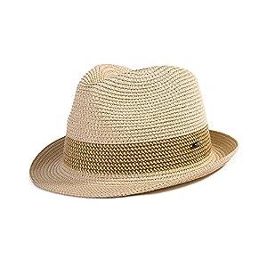 (シッギ) Siggi ストローハット メンズ UVカット 麦わら帽子 レディース 折りたたんですぐに回復 春夏