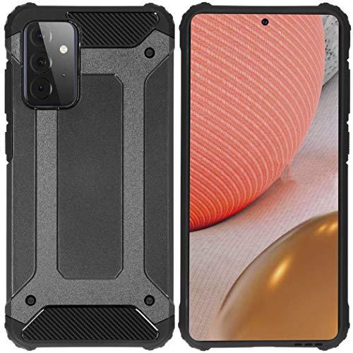 iMoshion kompatibel mit Samsung Galaxy A72 Hülle – Rugged Xtreme Back Cover Schutzhülle – Hard Hülle Handyhülle in Schwarz [Stoßabsorbierend, Dual-Layer Design]