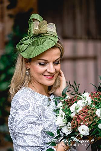 U40 Hut Royal Ascot hat Ballhut Kentucky- Derby hat Pferderennen couture Millinery Sinamay hat Hochzeit Fascinator