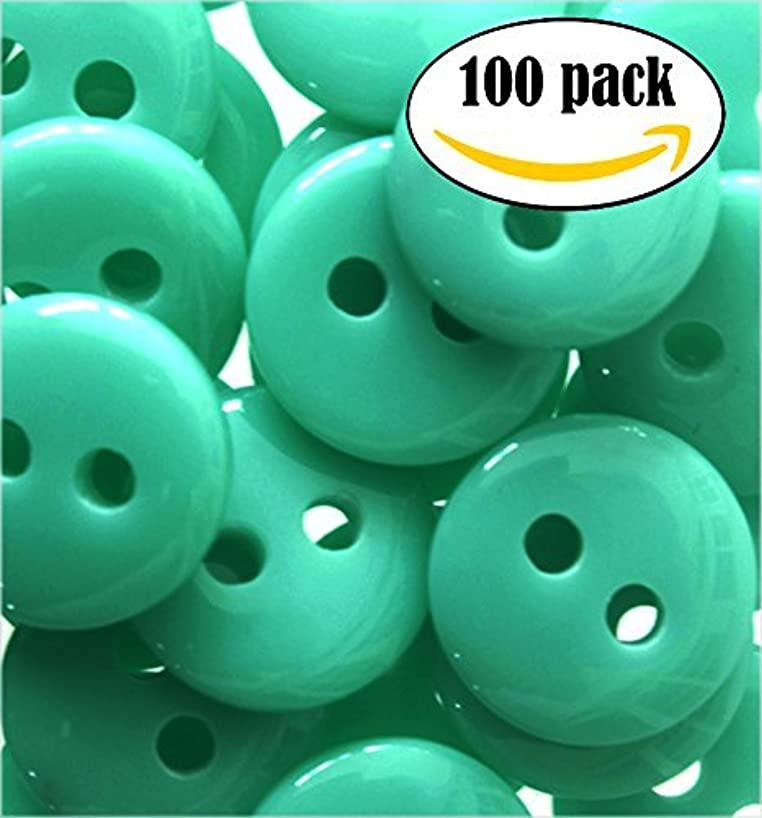 NDC Turqouise Sewing Craft Buttons 100 Pack