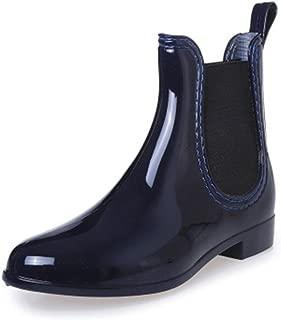 Womens Wellington Ankle Boots Ladies Wellies Rain Boots Chelsea Shoes