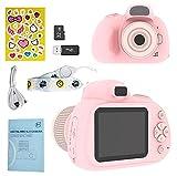 YunLone Cámara SLR para niños, cámara Digital de 28MP, Video de Alta definición de 1080P, cámara para Selfies para niños, con Tarjeta Micro SD de 32GB, Pantalla de 2.4 Pulgadas, Rosa