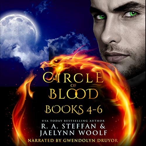Circle of Blood: Books 4-6     Circle of Blood Bundle, Book 2              By:                                                                                                                                 R. A. Steffan,                                                                                        Jaelynn Woolf                               Narrated by:                                                                                                                                 Gwendolyn Druyor                      Length: 23 hrs and 40 mins     7 ratings     Overall 4.6