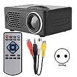 Lecxin Proyector HD, 814 Proyector HD Digital Mini Duradero Multifuncional Negro 1080P Compatible con Disco Duro Externo móvil, Tarjeta TF, Disco U, decodificación de Video Multimedia STB(UE)