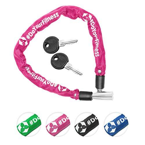 Fahrradschloss »Guardian« Sicherheitsschloss / Radschloss / Stahlgliederketten mit Schlüsseln zur Basisabsicherung - Inkl. 2 Schlüssel /ca. 60 cm lang, Durchmesser ca. 20 cm, Stärke ca. 3-4mm pink