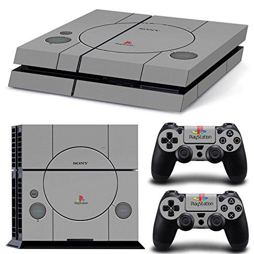 Sony PS4 Playstation 4 Skin Design Foils Aufkleber Schutzfolie Set - Retro PSOne 2 Motiv