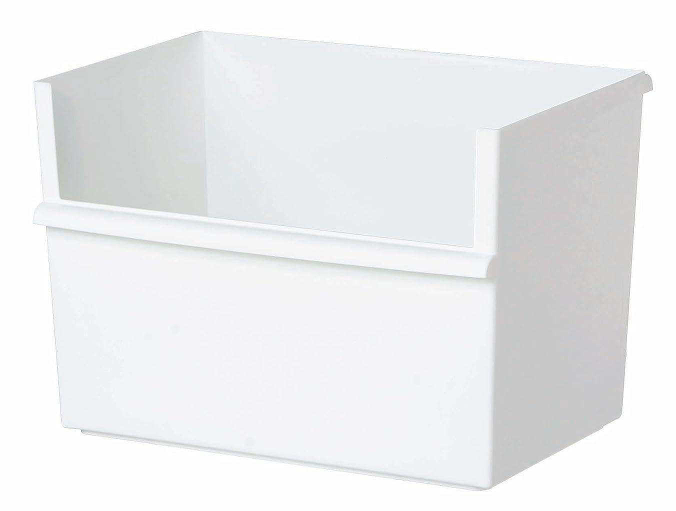 翻訳サンプル色合いlike-it 小物収納 コンテナー ワイド 深型 ホワイト 幅38x奥26.8x高26cm JT-01