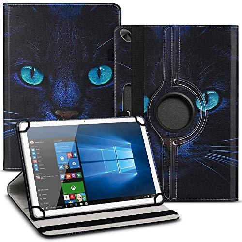 Tablet Schutz Hülle kompatibel für Jay-Tech G10.10 Schutzhülle Tasche Kunstleder mit Standfunktion 360 Drehbar, Farben:Motiv 4