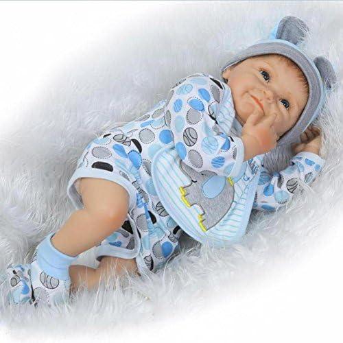SHTWAD Reborn Baby-Puppe Simulation Silikon Kreative Junge mädchen Spielzeug 55cm