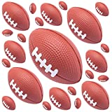 Mini Football Party Themed Decorations - 24 Pack Miniature Foam Squishy Brown Balls - Ideal Favor Centerpieces Pinata Fillers Cake Toppers Kids Toy - Anxiety Stress Relief Fingers Therapy Recover