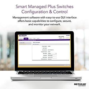 NETGEAR 16-Port Gigabit Ethernet Smart Managed Plus PoE Switch (JGS516PE) - with 8 x PoE @ 85W, Desktop/Rackmount, and ProSAFE Limited Lifetime Protection
