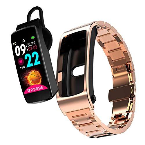 DSY 2 en 1 Smartwatch de Los Earplacks de Bluetooth, Tipo Separado Tallugs Earplugs Smart Reloj con Caso de Carga Soporte Monitoreo de Frecuencia Cardíaca Y Control de Voz, A1 Contr