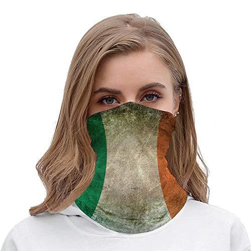 Old and Worn Dekokissen, Vintage-Flagge, Irland, Halloween-Outfit, Gesichtsmaske, Kopfband, Bandana, Mundschutz, Haarbänder, Halstuch für Damen und Herren