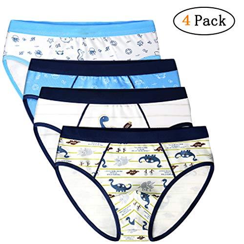 Zhongke Garçons Shorts Sous-Vêtements Bébé Coton Doux Sous-Vêtements Enfant Rayure Motif Triangle Sous-Vêtements Pour Enfants Petit Garçon